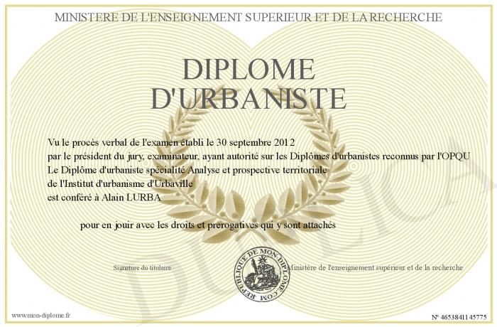 Diplome de recensement - Bureau de service national du lieu de recensement ...