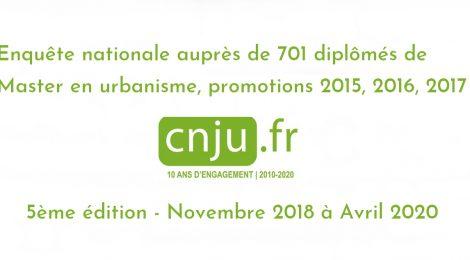 Insertion professionnelle des jeunes urbanistes diplômés : l'intégralité des résultats de la 5ème enquête nationale du CNJU